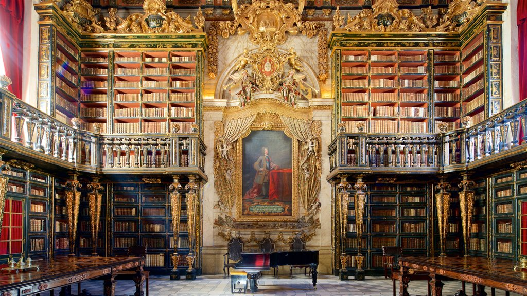Biblioteca Joanina which includes religious aspects, art and heritage elements