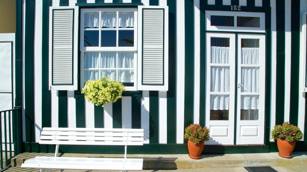 Praia da Costa Nova caracterizando uma casa