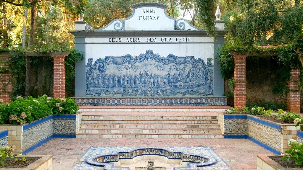 Gandarinha Municipal Park showing a garden