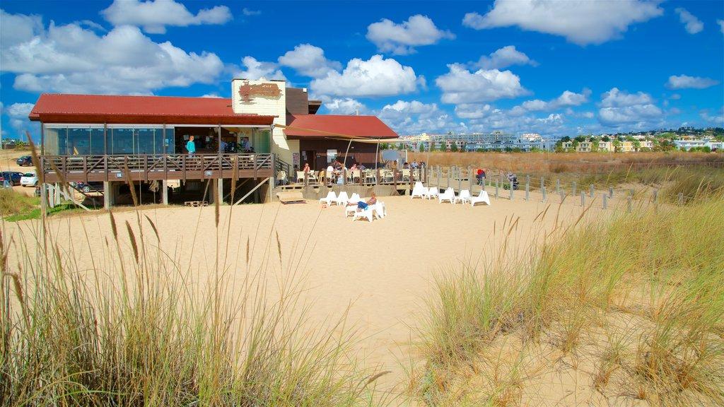 Meia Praia Beach which includes a beach