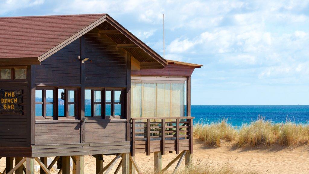 Meia Praia Beach which includes general coastal views and a sandy beach