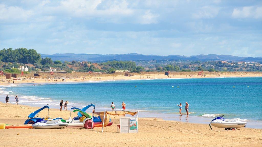 Meia Praia Beach showing a sandy beach and general coastal views