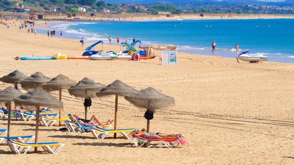 Meia Praia Beach featuring a beach and general coastal views