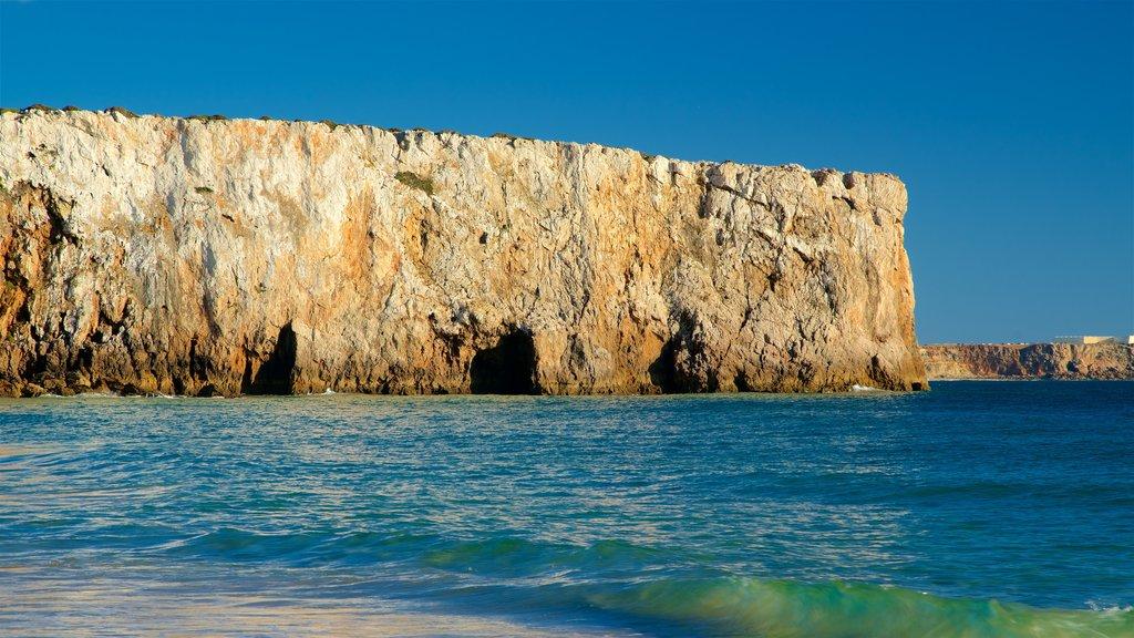 Beliche Beach which includes general coastal views and rugged coastline