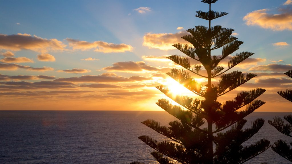 Norfolk Island featuring a sunset and general coastal views