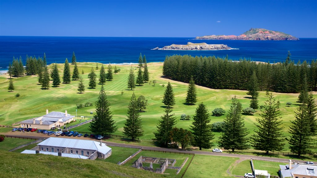 Norfolk Island featuring tranquil scenes, general coastal views and a small town or village