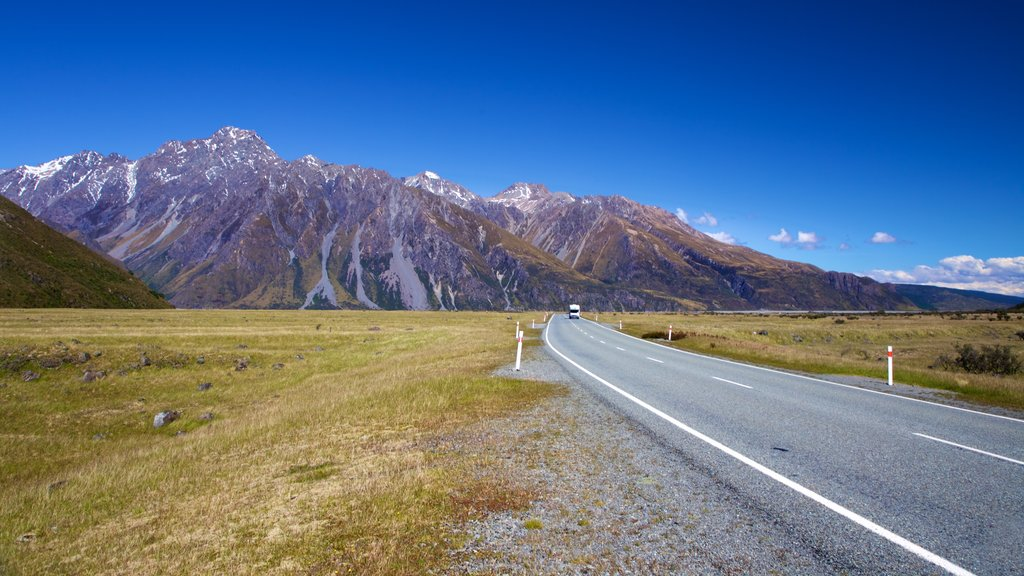 Mount Cook National Park featuring landscape views, mountains and tranquil scenes