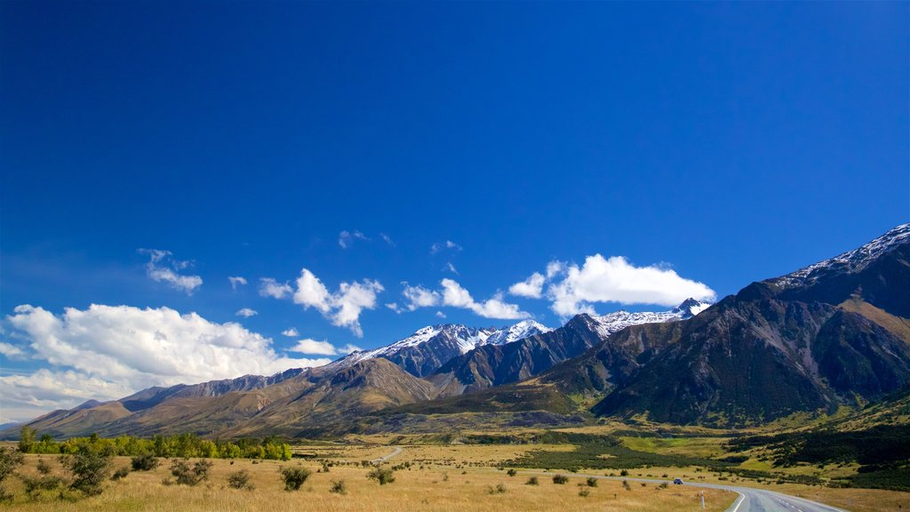 Mount Cook National Park featuring mountains, tranquil scenes and landscape views