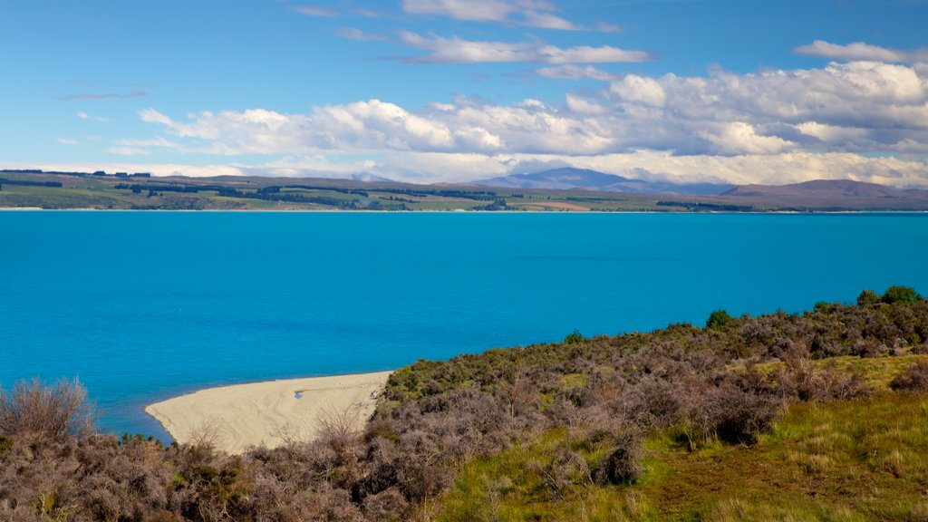 Mount Cook National Park which includes a lake or waterhole, landscape views and tranquil scenes