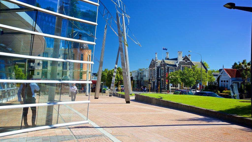 Christchurch Art Gallery which includes a park