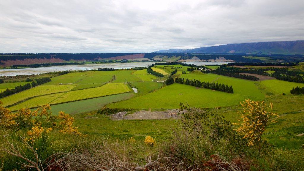 Rakaia Gorge ofreciendo escenas tranquilas, vistas de paisajes y un lago o abrevadero
