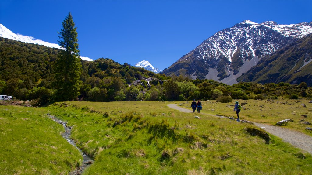 Mount Cook National Park featuring mountains, landscape views and tranquil scenes