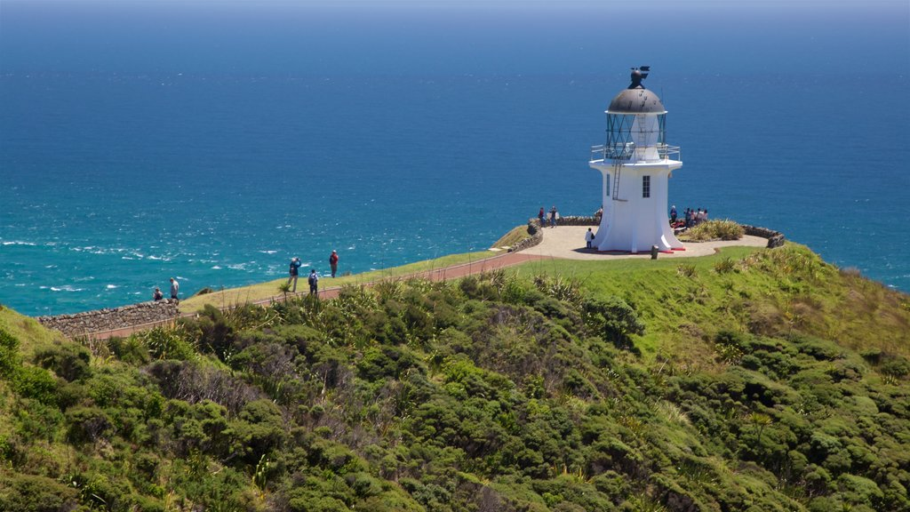 Cape Reinga Lighthouse featuring general coastal views, views and a lighthouse