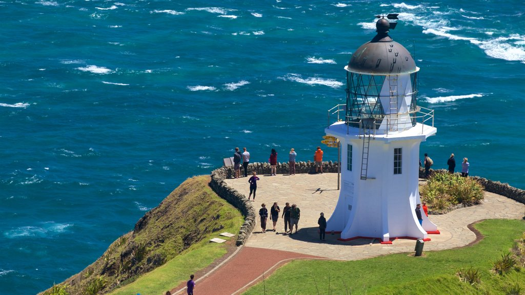 Cape Reinga Lighthouse showing views, general coastal views and a lighthouse