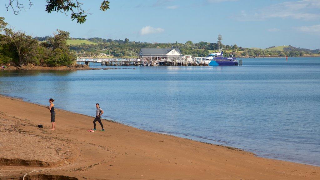Paihia Beach showing a bay or harbor, a sandy beach and general coastal views
