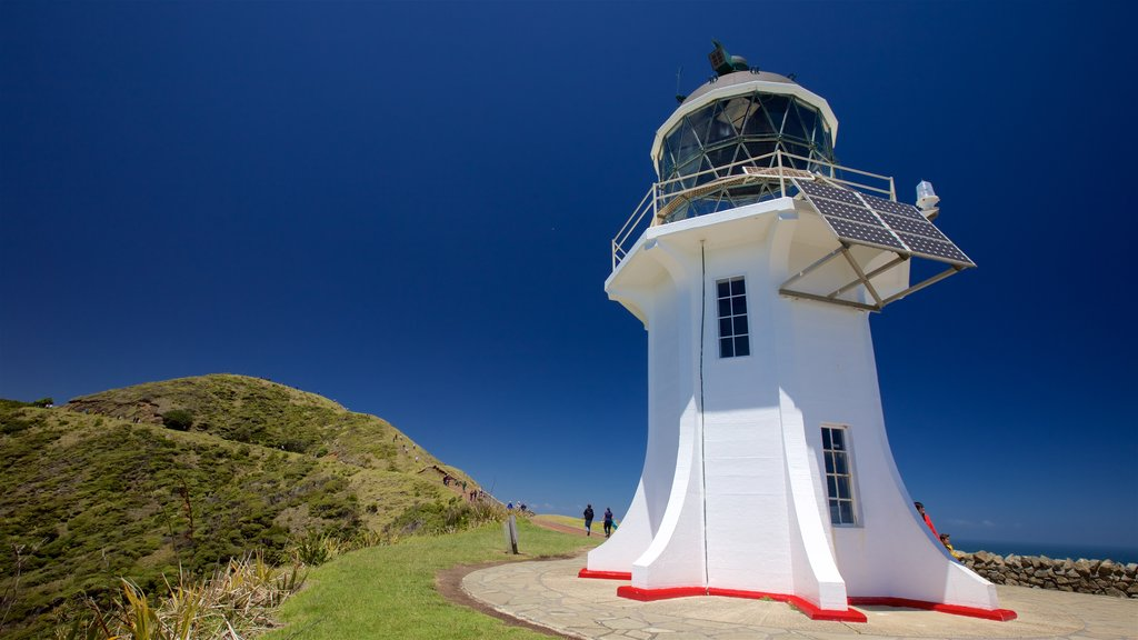 Cape Reinga Lighthouse showing views and a lighthouse