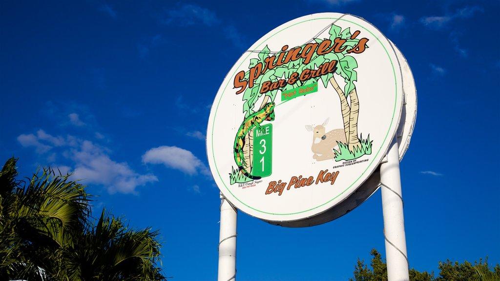 Big Pine Key showing signage
