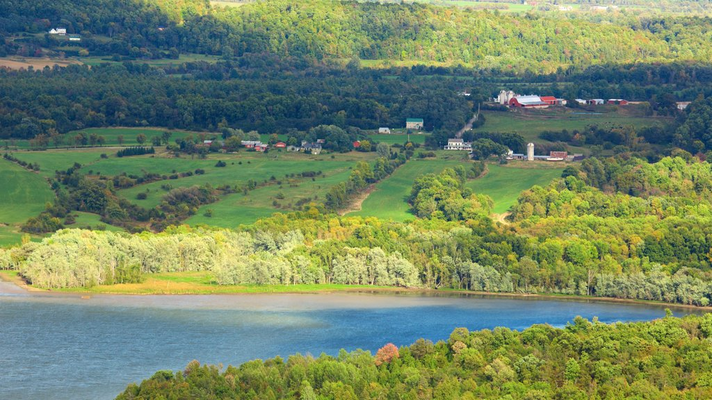 Fort Ticonderoga which includes a lake or waterhole, landscape views and tranquil scenes