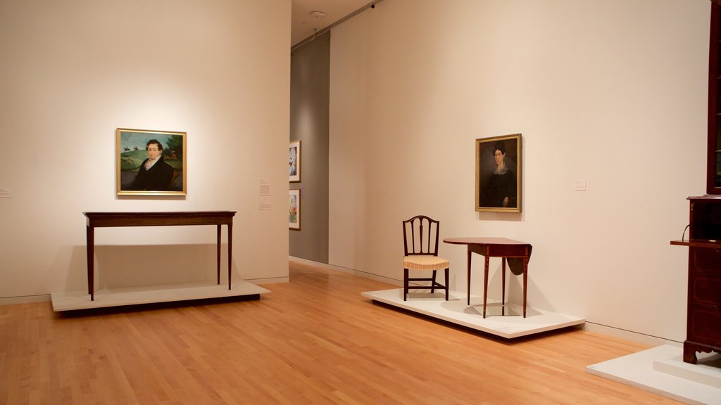 Georgia Museum of Art featuring art and interior views
