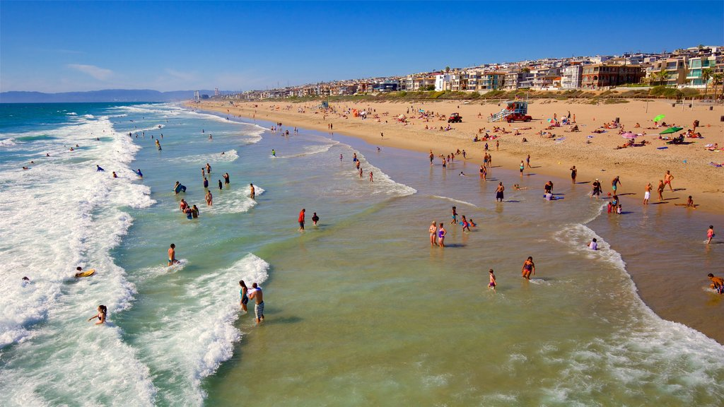 Manhattan Beach featuring a beach, general coastal views and waves