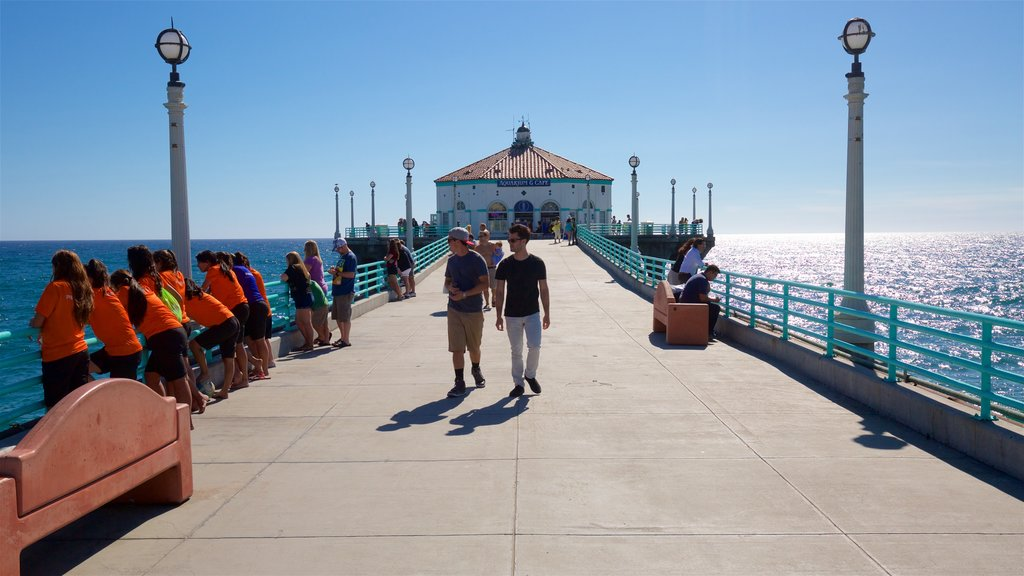 Manhattan Beach which includes general coastal views as well as a small group of people