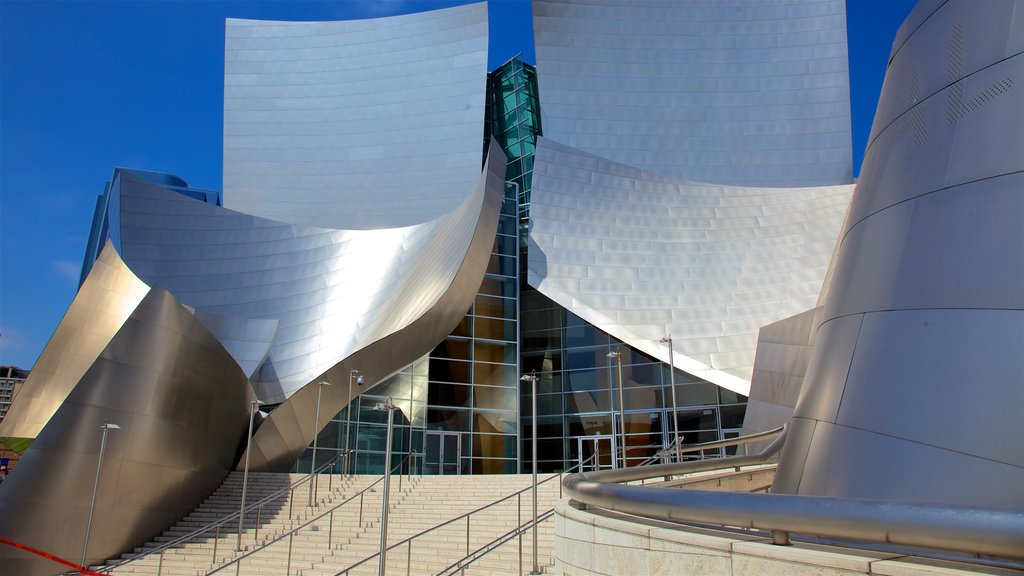 Walt Disney Concert Hall showing modern architecture