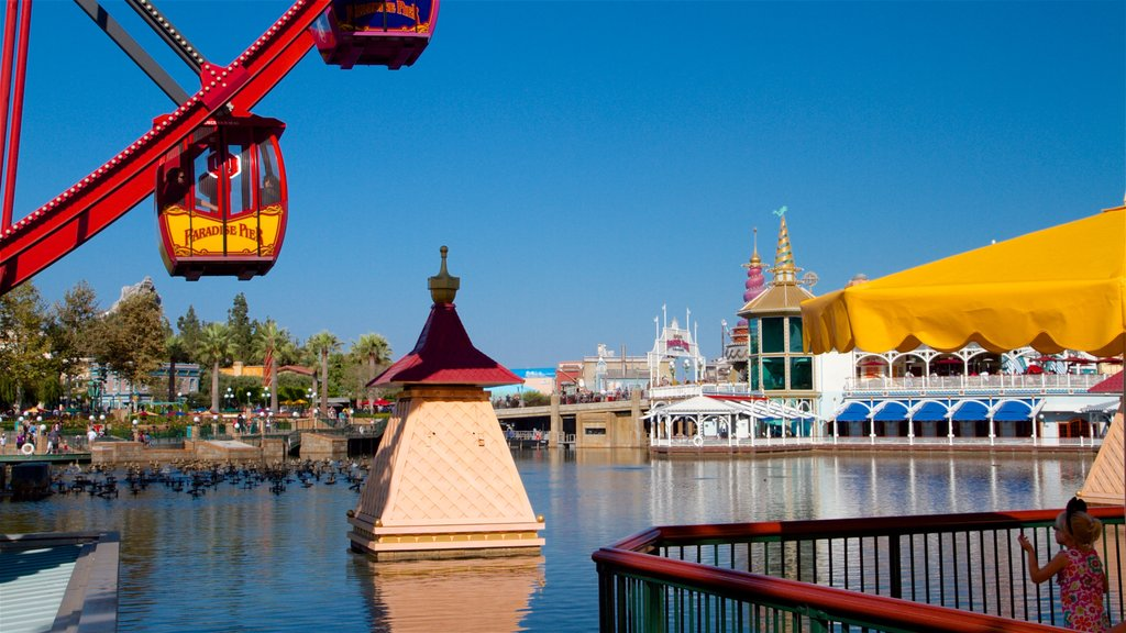 Disney California Adventure® Park featuring a bay or harbor and rides