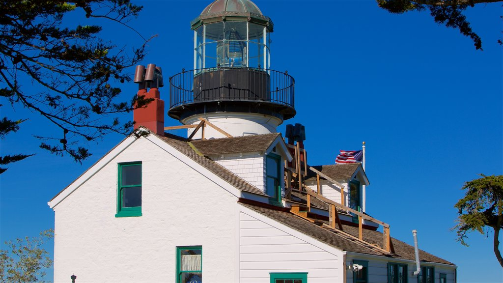 Point Pinos Lighthouse which includes a lighthouse