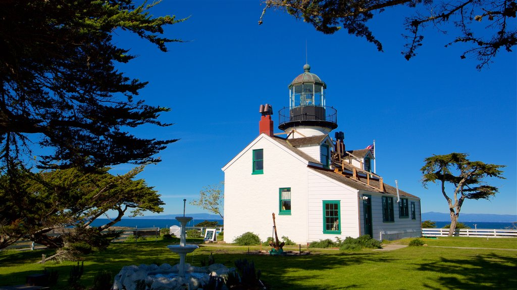 Point Pinos Lighthouse featuring a lighthouse and general coastal views