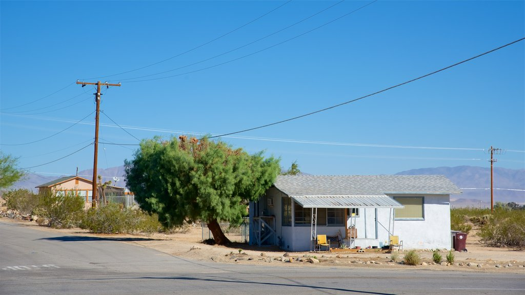 Twentynine Palms showing a house and a small town or village