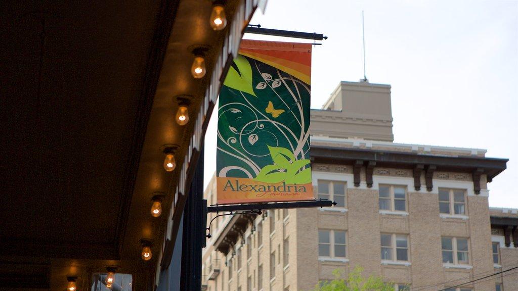 Alexandria featuring signage