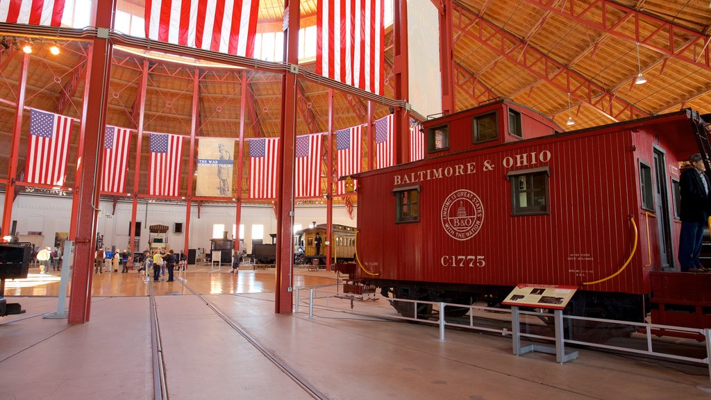 B&O Railroad Museum featuring interior views and heritage elements