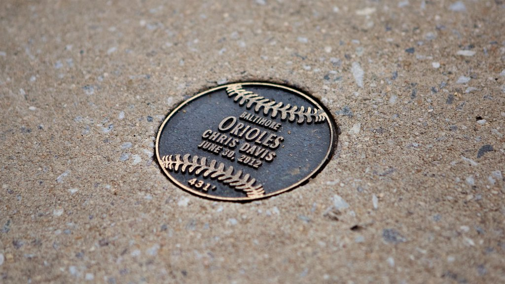 Oriole Park at Camden Yards showing heritage elements