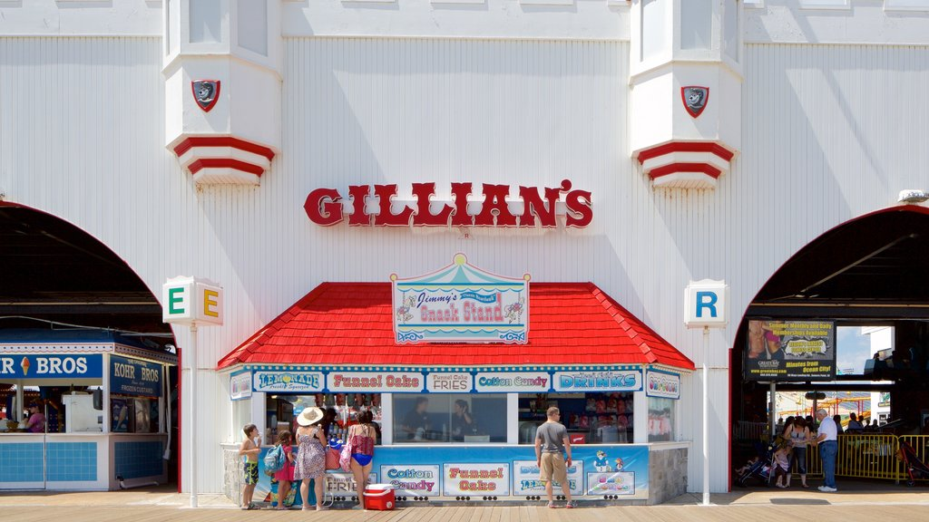 Ocean City which includes signage as well as a family