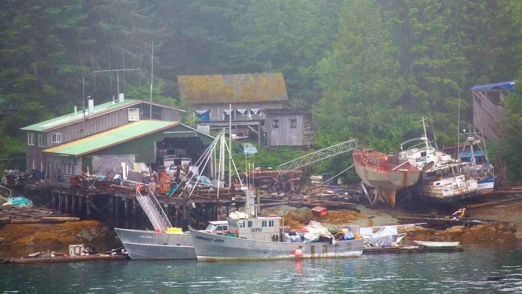 Ketchikan featuring a bay or harbor and building ruins