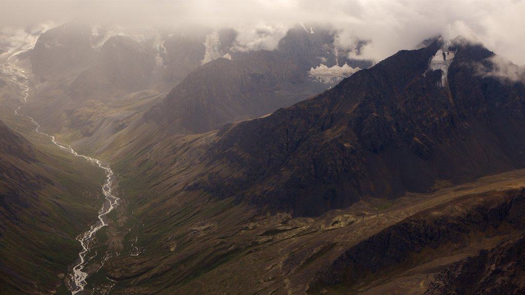 Chugach State Park which includes mist or fog, landscape views and tranquil scenes