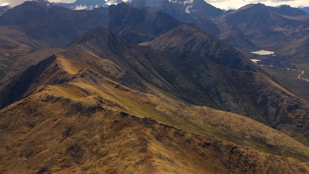 Chugach State Park which includes landscape views, tranquil scenes and mountains