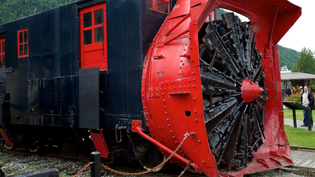 Klondike Gold Rush National Historic Park showing railway items and heritage elements