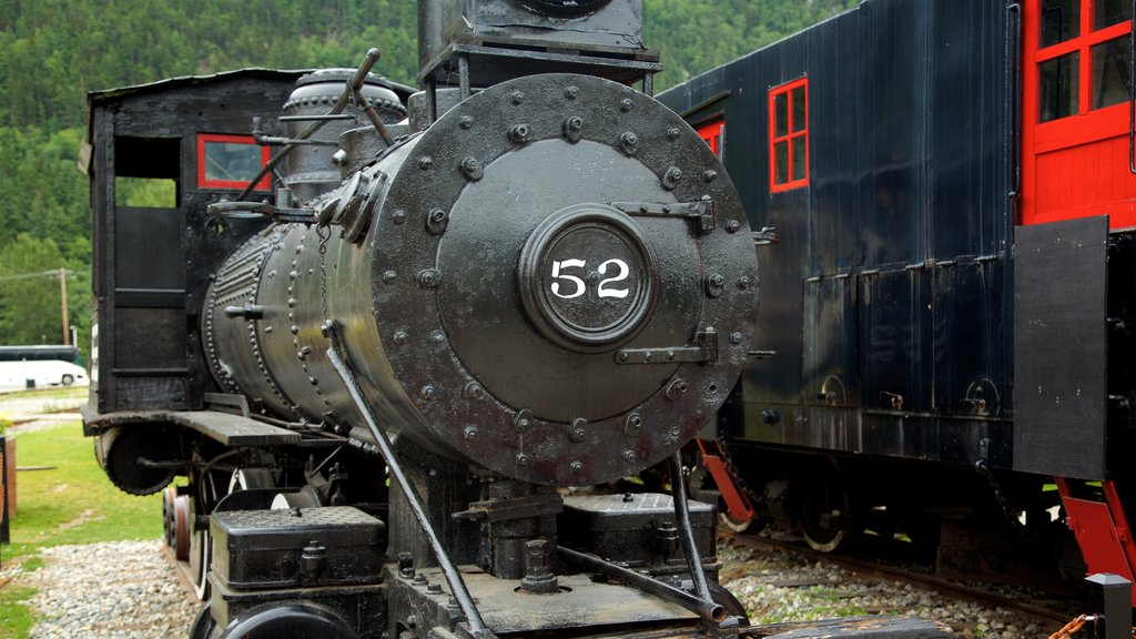 Klondike Gold Rush National Historic Park featuring railway items and heritage elements