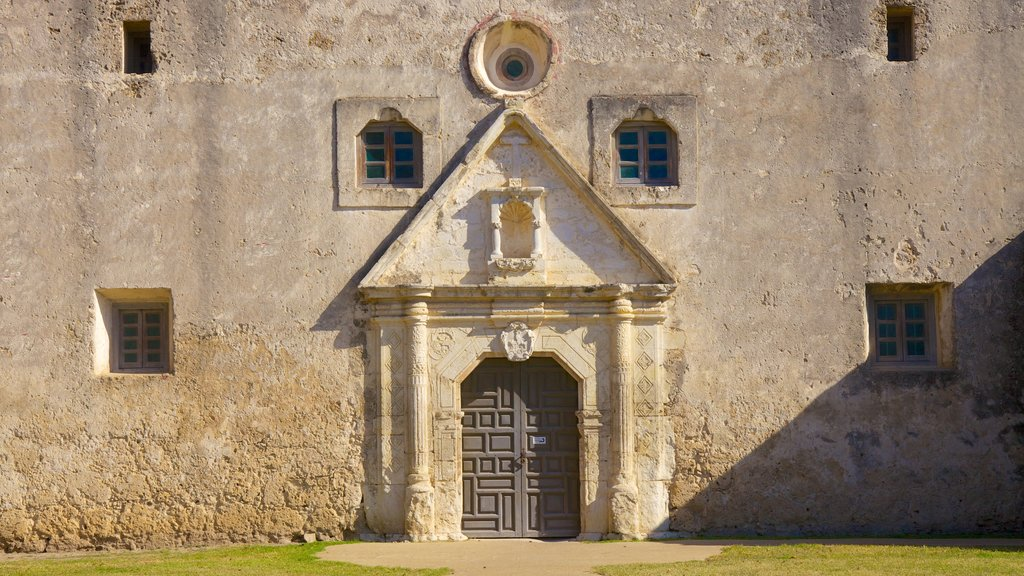 San Antonio Missions National Park which includes a garden and heritage architecture