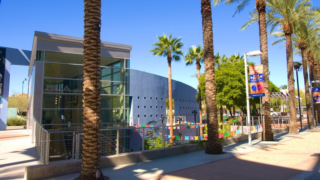 Mesa Arts Center showing tropical scenes and art