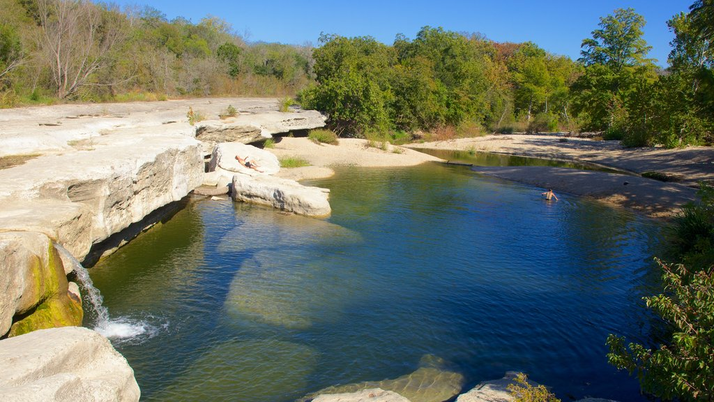 McKinney Falls State Park featuring a garden, landscape views and a cascade