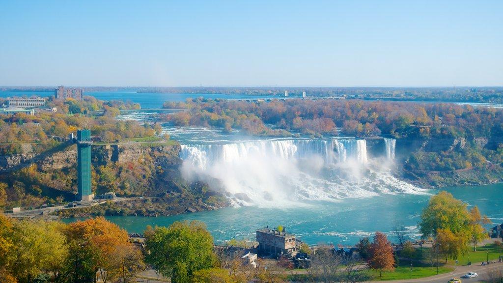 Noria Niagara SkyWheel ofreciendo una catarata, un río o arroyo y vistas de paisajes