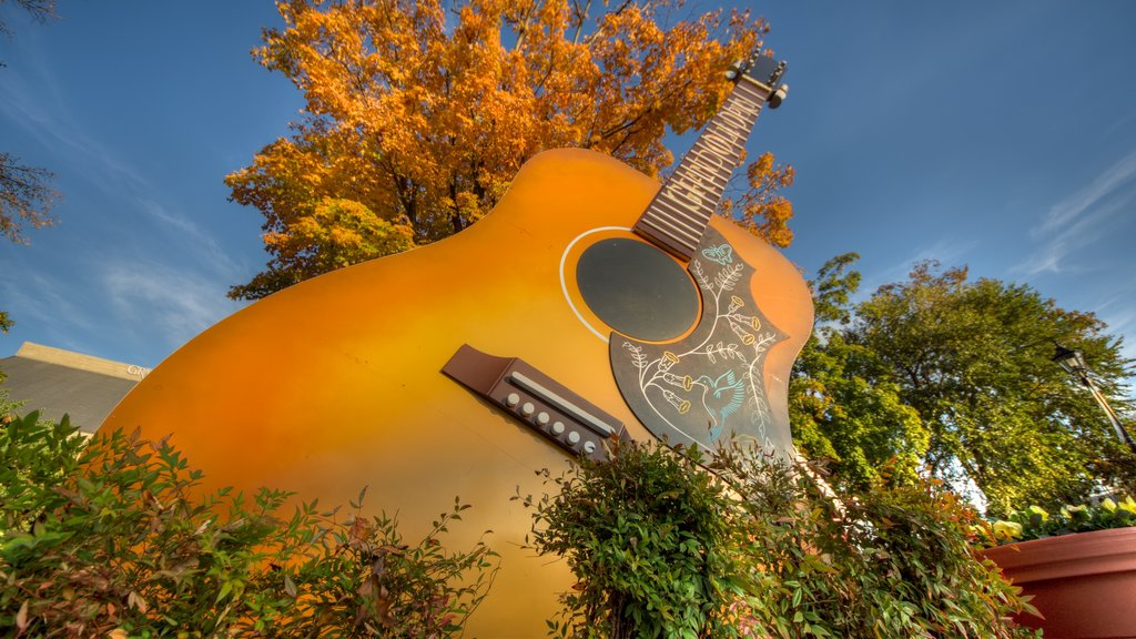 Grand Ole Opry featuring autumn leaves