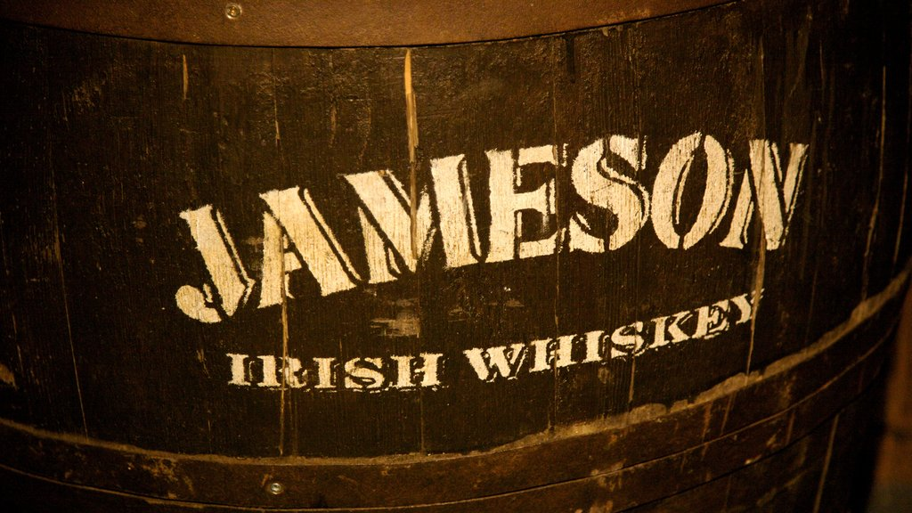 Old Jameson Distillery featuring signage