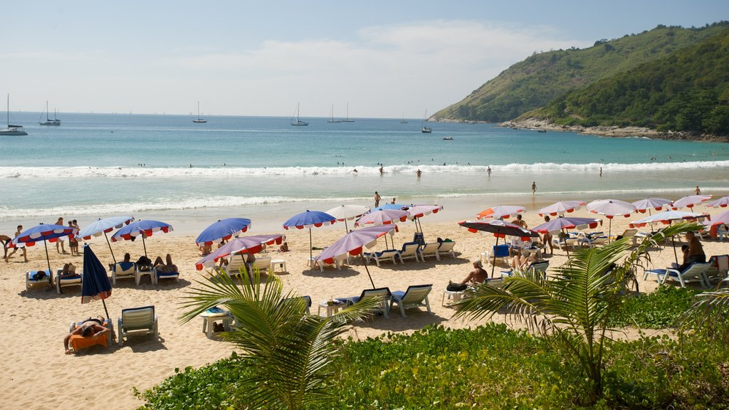 Nai Harn Beach showing a beach, general coastal views and landscape views