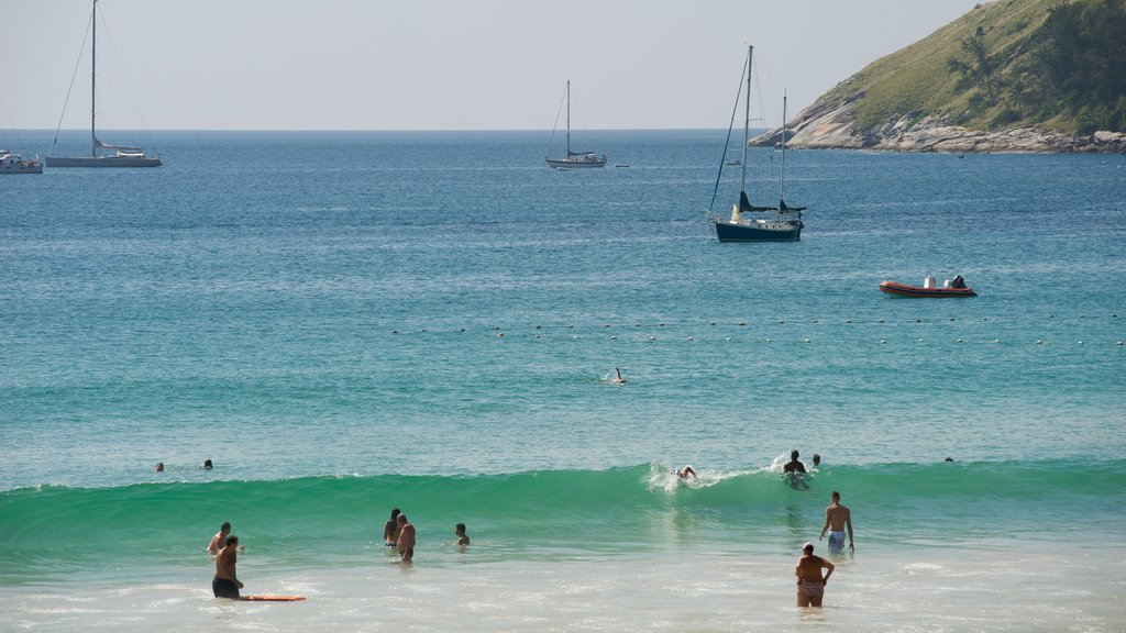 Nai Harn Beach which includes swimming, a marina and a beach
