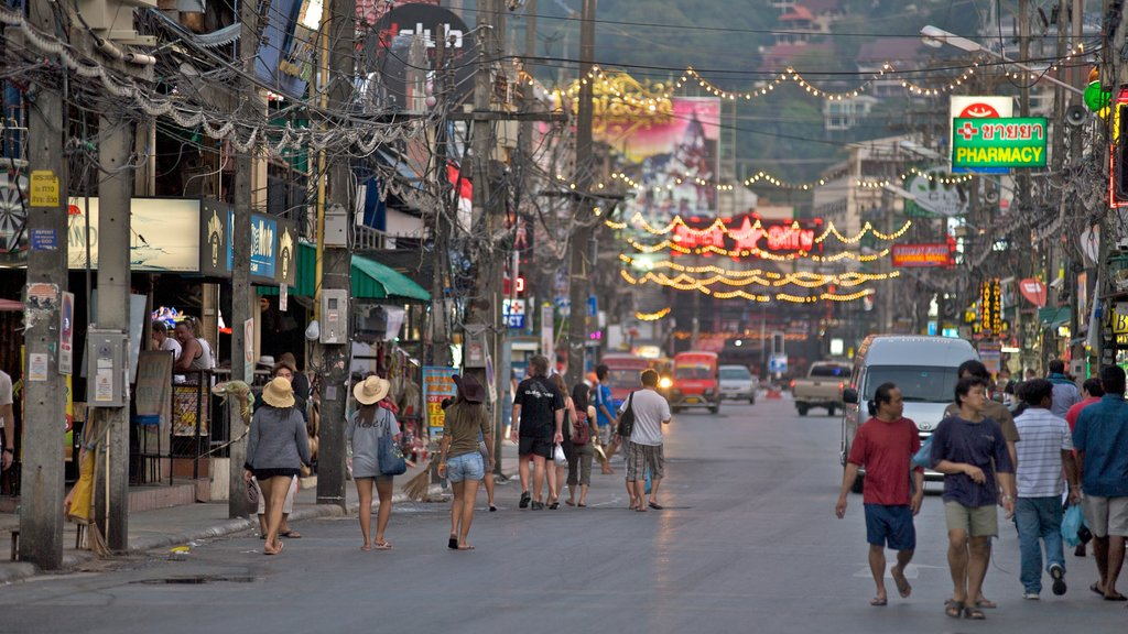 Patong featuring night scenes, a city and street scenes