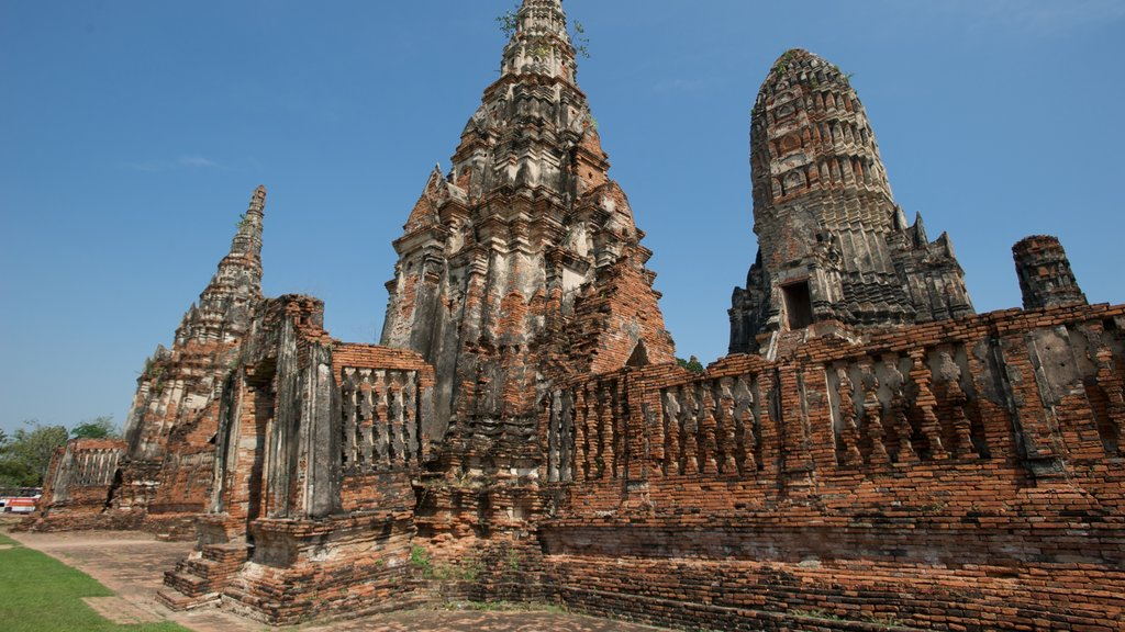 Ayutthaya which includes a temple or place of worship and heritage architecture