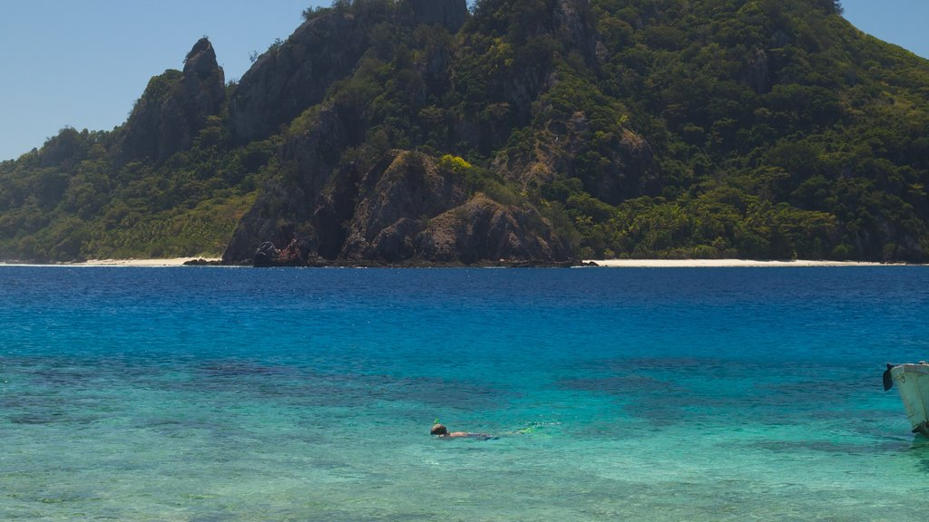 Mamanuca Islands featuring island views, general coastal views and a beach